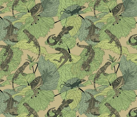 Luverly_zentangled_lizards_on_painted_leaves_new_shop_preview