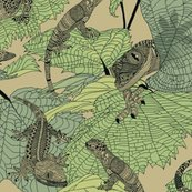 Luverly_zentangled_lizards_on_painted_leaves_new_shop_thumb