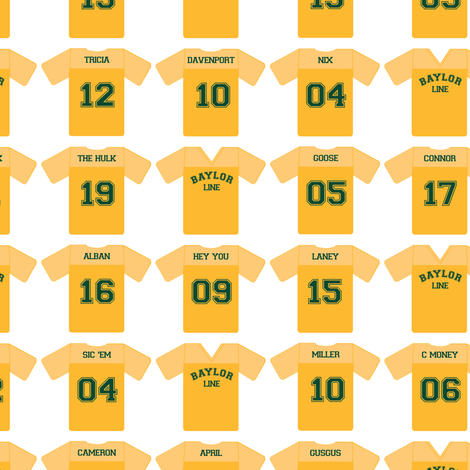 Baylor Line Jerseys fabric by aprilmariewade on Spoonflower - custom fabric