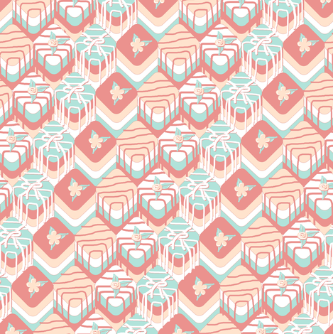 Petit Fours with Darker Mint fabric by eclectic_house on Spoonflower - custom fabric
