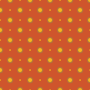 Farmhouse Dots on Red