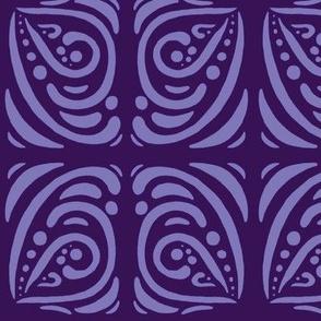 Purple Butterfly Two Tone