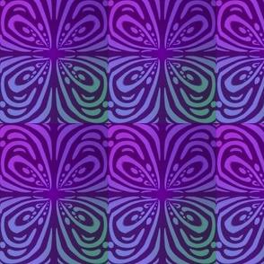 Purple Butterfly Four Tone