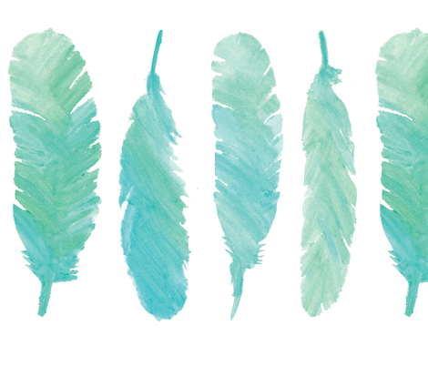 Blue Feathers Painting Png