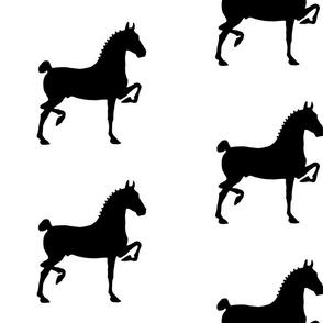 hackney pony (black & white)