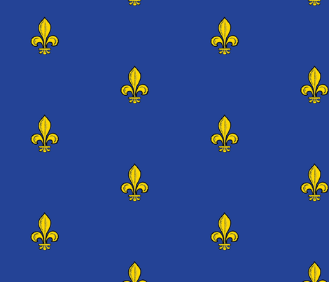 1.5-inch Royal French fleur-de-lis  fabric by joan_of_arc on Spoonflower - custom fabric