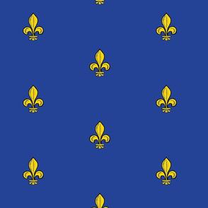 1.5-inch Royal French fleur-de-lis