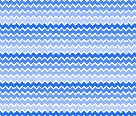 Sky blue ombre chevron zigzag pattern fabric decamp for Blue chevron wallpaper