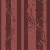 Stripes with Scrolls Marsala