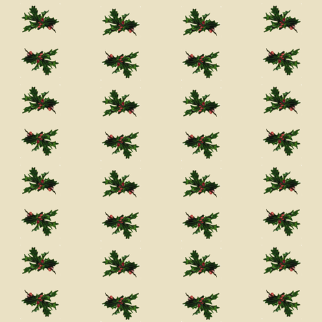 Holly Branches fabric by kickyc on Spoonflower - custom fabric