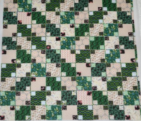 Green and Cream Illusion Cheater, Half Brick