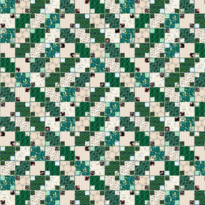 Green and Cream Illusion Cheater, Half Brick
