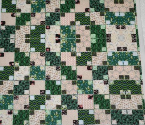 Green and Cream Illusion Cheater, Mirror