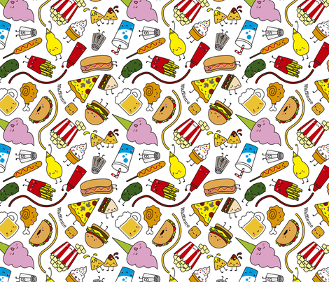Junk food fabric by waffleme on Spoonflower - custom fabric