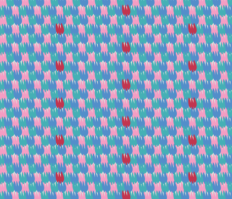 Tulips celebrate_morning fabric by colour_angel_by_kv on Spoonflower - custom fabric
