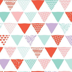 Geometric tribal aztec triangle pastel pink and mint modern patterns