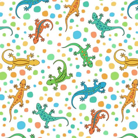Ditsy Lizards fabric by hazelfishercreations on Spoonflower - custom fabric