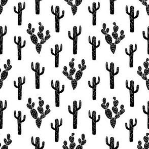 cactus // black and white small version kids summer black and white bw nursery tropical southwest exotic