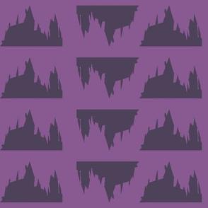 Castle Silhouette - Purple