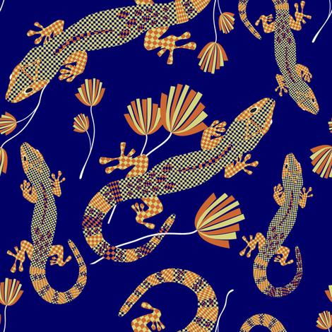 Lizards lp fabric by luzpaucar on Spoonflower - custom fabric