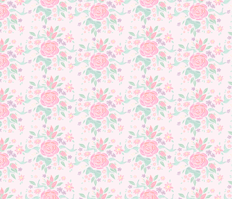 Sweet Rose fabric by argenti on Spoonflower - custom fabric