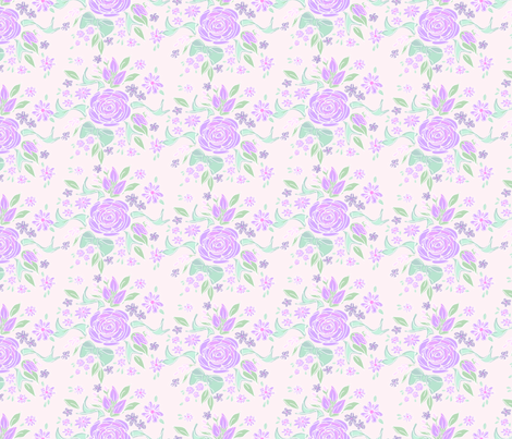 Sweet Rose Lavender fabric by argenti on Spoonflower - custom fabric