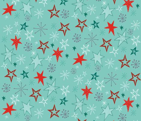 Red Stars Repeat. fabric by slumbermonkey on Spoonflower - custom fabric