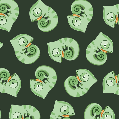 Baby chameleons fabric by petitspixels on Spoonflower - custom fabric