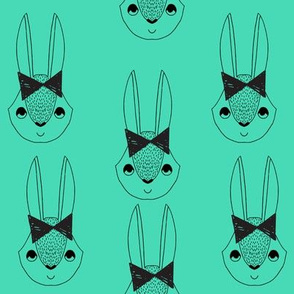 bunny // bow bunny rabbit green girls bows sweet rabbit