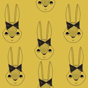 bunny girl  // bow bunny cute mustard rabbit