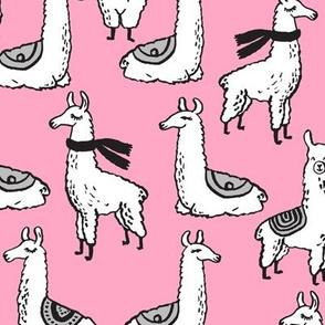 Llamas - Pink by Andrea Lauren