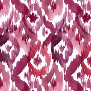 Ikat Diamonds Red