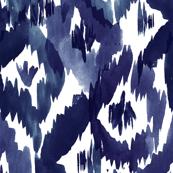 Indigo Blue Ikat Diamonds