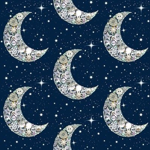 Moon and stars// Vintage  Buttons // Moon and stars Celestial