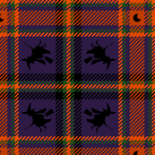 Halloween Witch Plaid 222 Orange Purple Green Black
