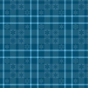 Snowflake Plaid 165 Blue