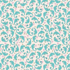 Ditsy chameleon turquoise