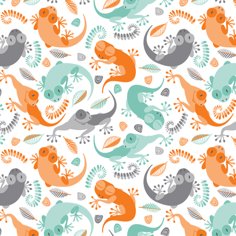 Little geckos fabric by cjldesigns on Spoonflower - custom fabric