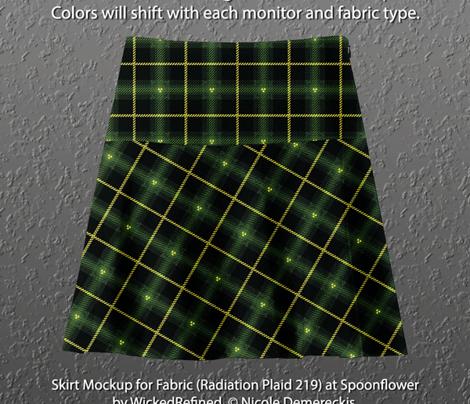 Radiation Plaid 219 Green Yellow Black