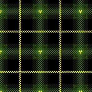 Radiation Plaid 219 Olive Yellow Black