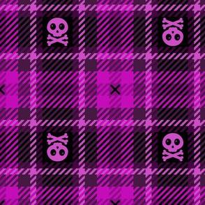 Toxic Plaid 205 Magenta Pink Black