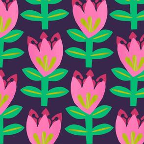 Tulipa - Navy- Large Scale