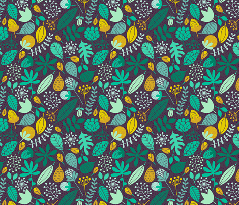 Autumn leaves fabric by heleen_vd_thillart on Spoonflower - custom fabric