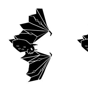 bat // black and white kids plush plushie cut and sew halloween kids animals nursery