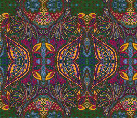Berry Paisley Spiced fabric by joonmoon on Spoonflower - custom fabric