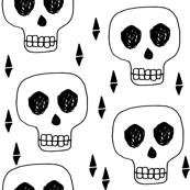 skulls //black and white october halloween skull creepy scary spooky cute