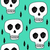 skull // skulls green halloween creepy scary spooky cute