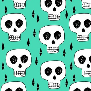 skull // skulls green halloween creepy scary spooky cute