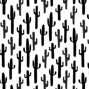 cactus // black and white cacti cactus cute cactuses print