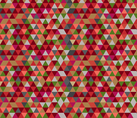 Holiday Red Triangles fabric by liagriffith on Spoonflower - custom fabric
